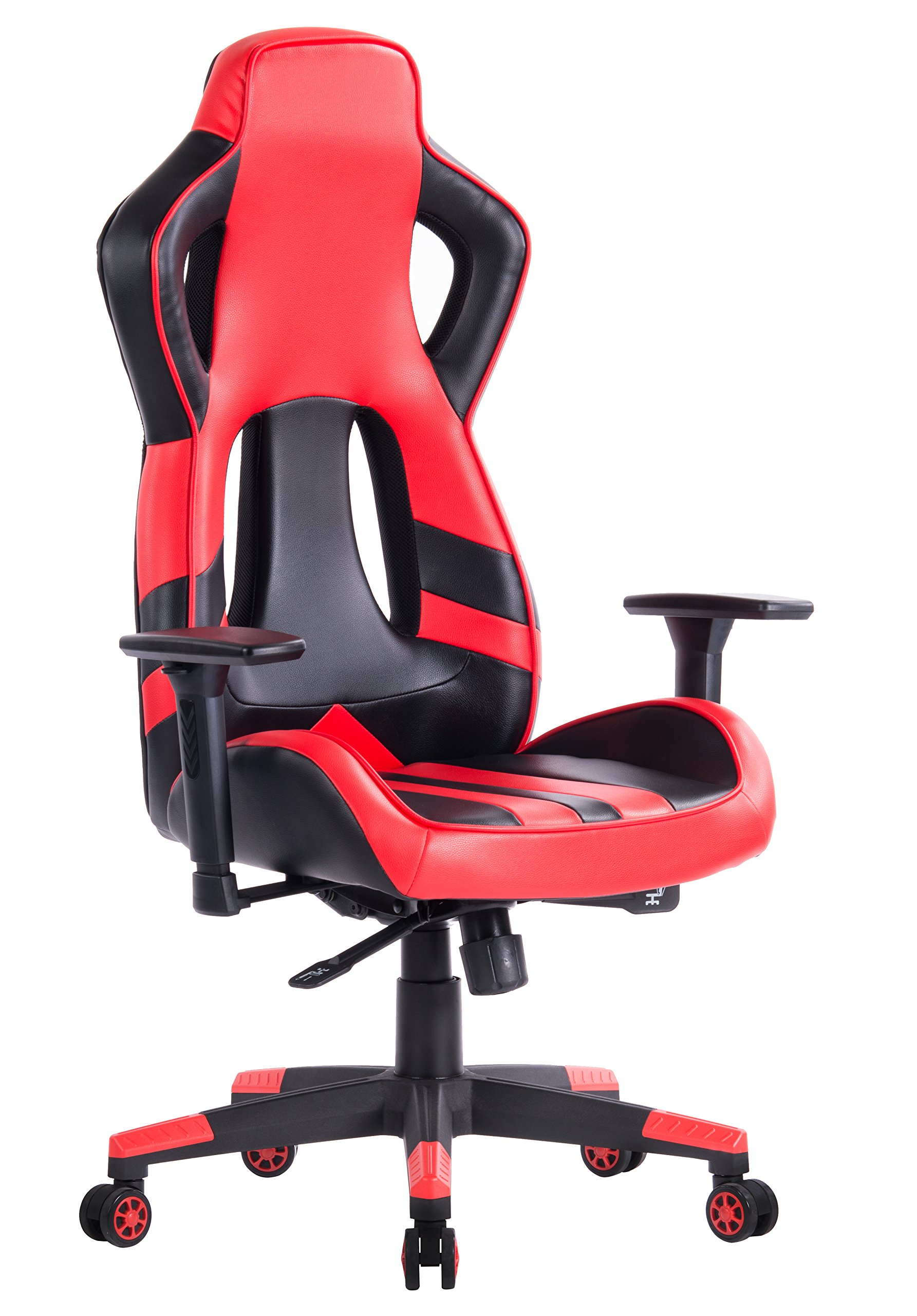 KILLABEE Ergonomic Racing Style Gaming Chair - Adjustable 3-D Arms Multifunctional High-Back Leather E-sports Computer Chair, Comfortable Executive Office Chair
