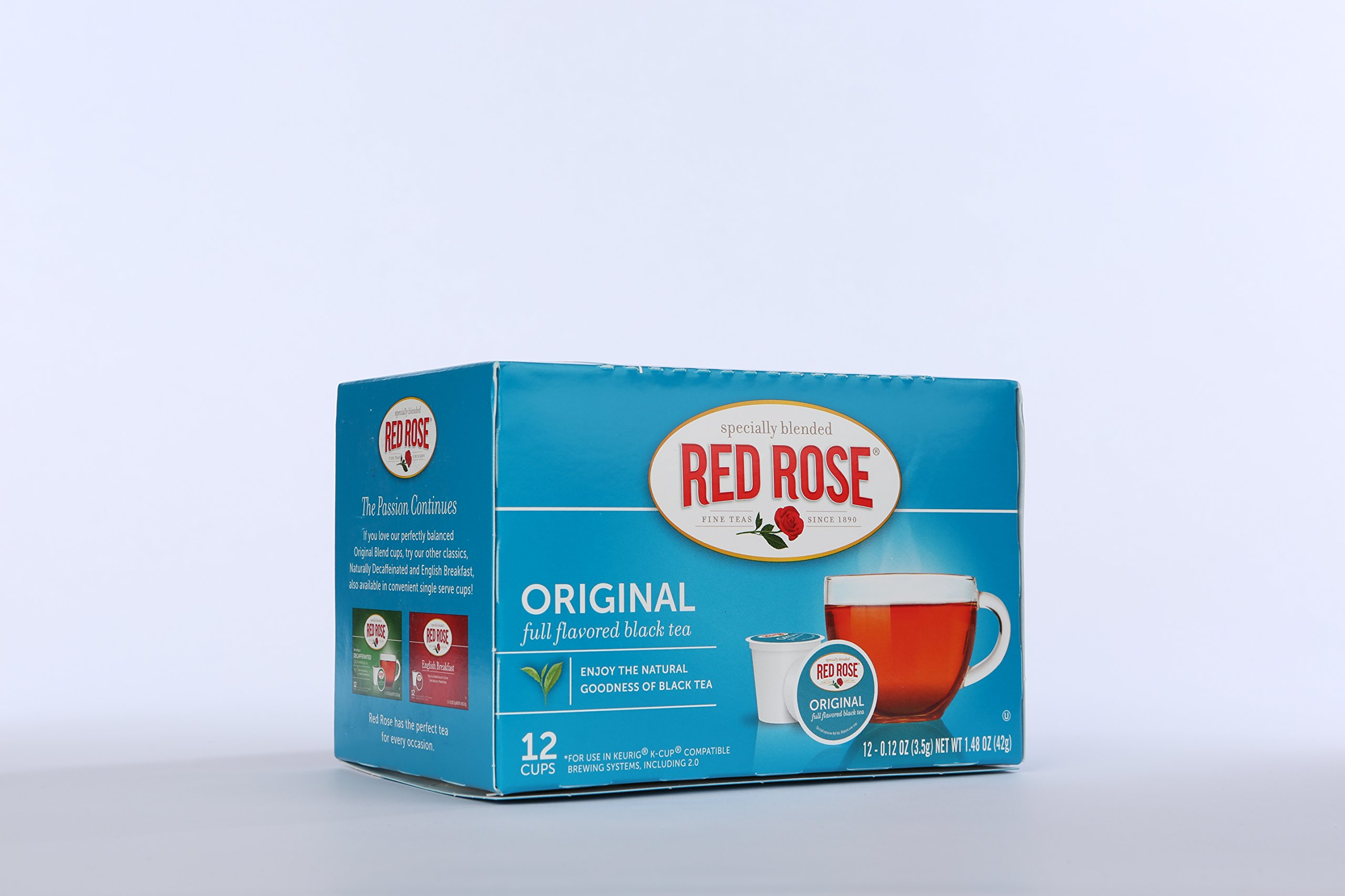 Red Rose Original Black Tea Single Serve Cups, 12 Count (Pack of 6)