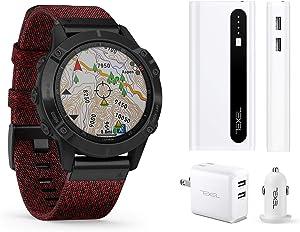 Garmin Fenix 6X Pro Black with Black Band, Premium Multisport GPS Watch