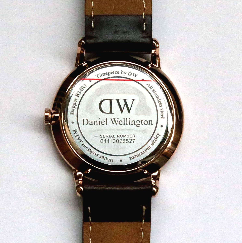 Daniel Wellington Reloj Mujer de Analogico con Correa en Cuero DW00100094: Amazon.es: Relojes