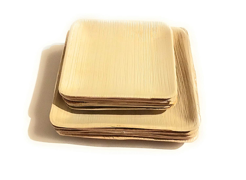 "Details about  /Bio Box India Palm Leaf 15 pieces  of 5/"" Square Bowl"