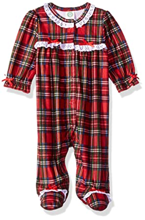 606aee6c0 Amazon.com  Little Me Baby Girls Christmas Plaid Pajamas  Clothing
