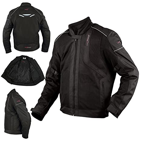 23991f75ee8 Chaqueta Moto Sport Transpirable Ventilada Protecciones CE Verano Negro S