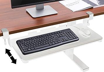 TechOrbits - Bandeja para teclado de escritorio, color blanco
