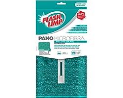 Pano Microfibra Para Chao com Furo Flash Limp Verde Esmeralda