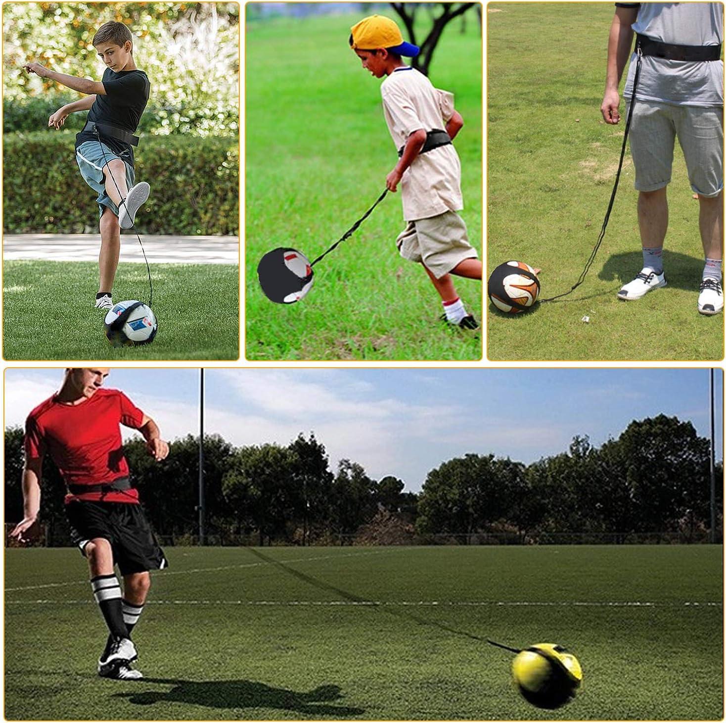 /Élastique de Shootball Footbalpour Enfant Adulte Ceinture Foot /Élastique R/églable Solo Kicking Pratique SANTOO Football Ceinture Dentra/înement