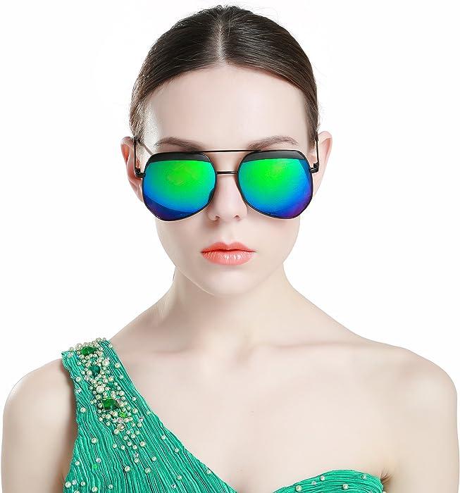5f94831209b02 LianSan Designer Oversized Double Bridge Unisex Men Women Large Metal Driver  Polarized Sunglasses 808 (black