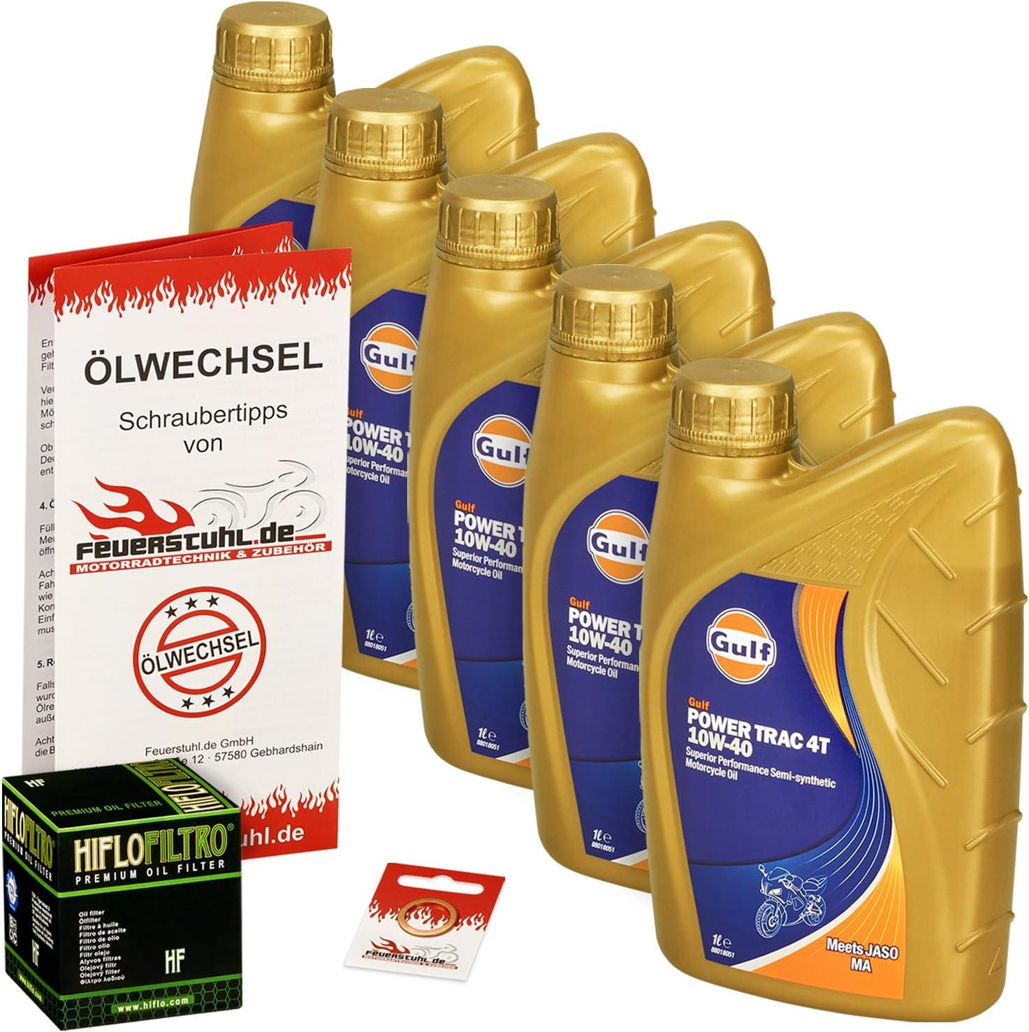 Gulf 10w 40 Öl Hiflo Ölfilter Für Suzuki Vs 1400 Intruder 87 03 Vx51l Ölwechselset Inkl Motoröl Filter Dichtring Auto