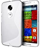 Motorola Moto X (2nd Generation) Case, Cimo [Wave] Premium Slim TPU Flexible Soft Case For Motorola Moto X (2nd Generation, 2014) - Clear