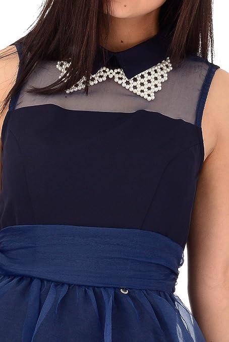 2400807a89e2 Abito corto donna Rinascimento blu  Amazon.co.uk  Clothing