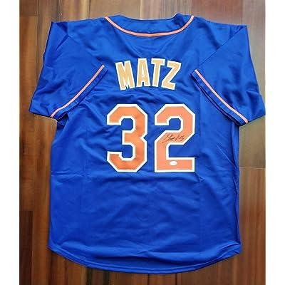 buy popular ab624 72571 Autographed Steven Matz Jersey - JSA Certified - Autographed ...