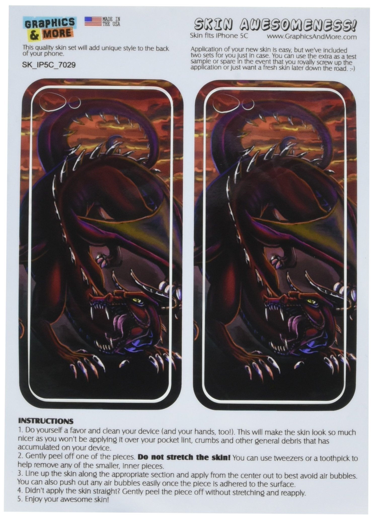 Graphics and More Dragon Red - Fantasy Protective