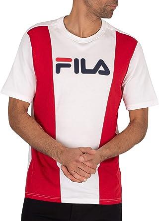 Fila de los Hombres Camiseta Hércules Cortar y Coser, Blanco: Amazon.es: Ropa y accesorios