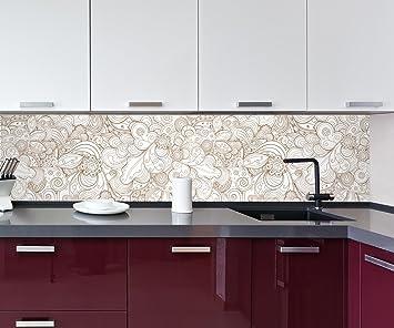 Cocina Pared Trasera Fondo Abstracto Floral Design M0775 260 x 60 cm (W x H) - 3 mm de Espuma ...