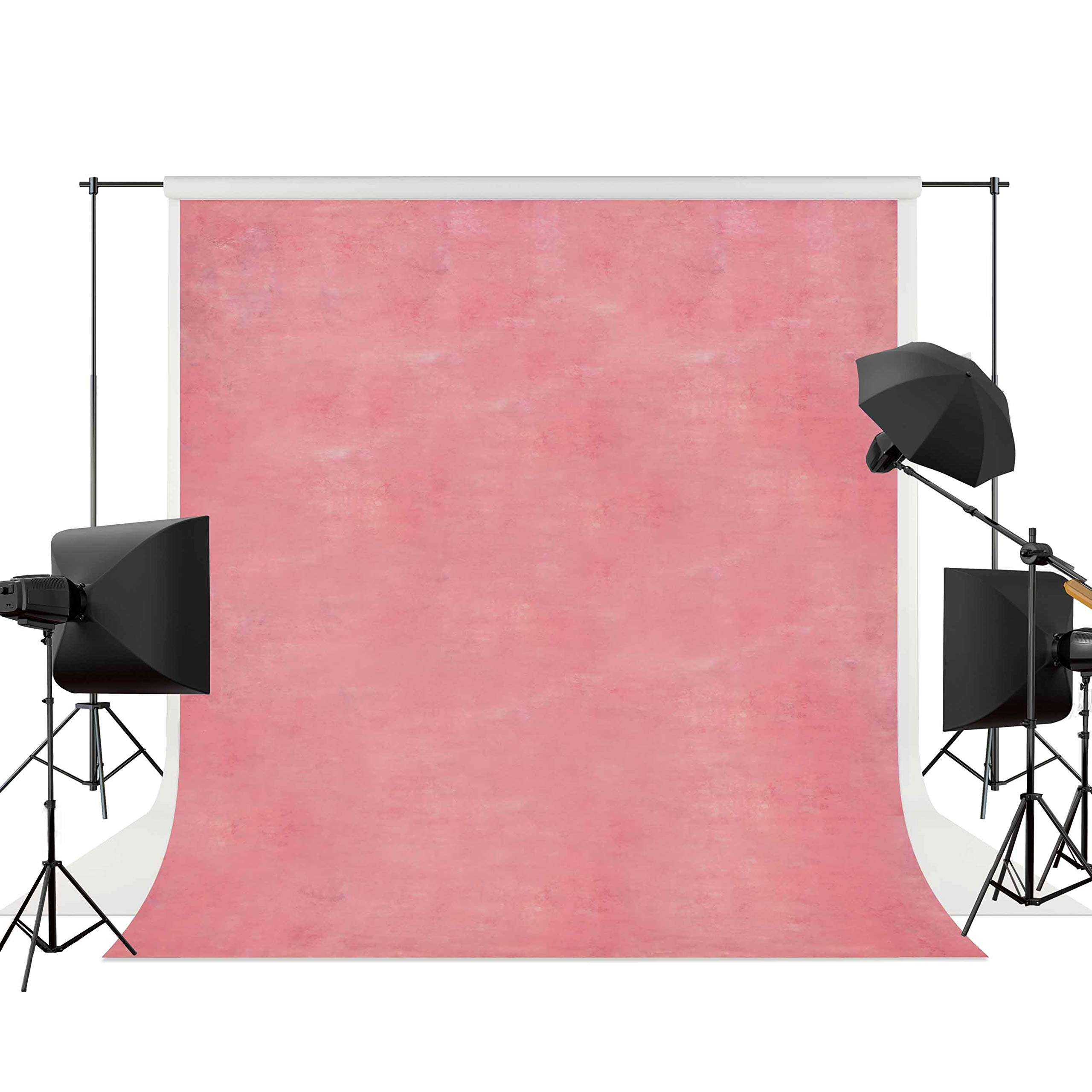 Allenjoy 10x10ft Abstract Solid Pink Photography Backdrops Printed Old Master Photo Background Indoor Portrait Studio Booth Photographer Shot Props Baby Shower Wedding Photocall