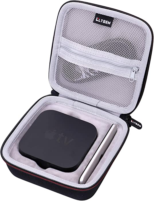 LTGEM EVA Hard Travel Carrying Case for Apple TV 4K (32GB / 64GB, Latest Model)