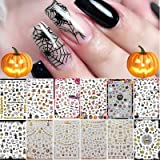 1500+ Patterns Halloween Nail Art Stickers Decals, Kalolary Self-Adhesive DIY Nail Sticker Decals 3D Design Nail Decorations