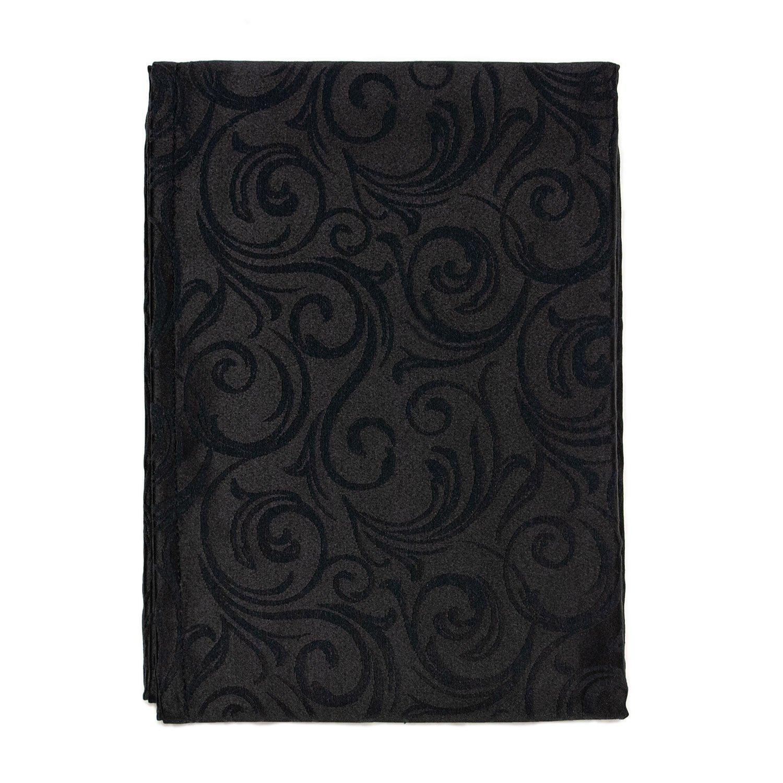 noir Traitement anti taches Grandes Tailles 45 x 45cm R/éf.Lyon Nappe de luxe Noir 6 NAPKINS 18 x 18