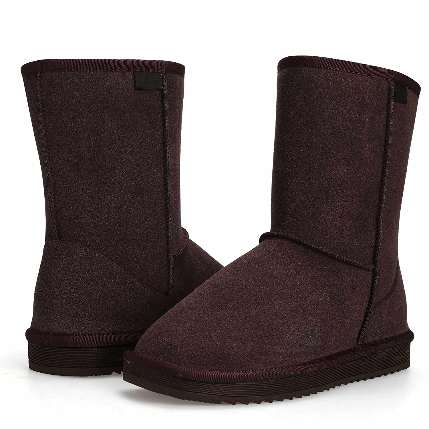 Dicesnow Fashion Women Flat Casual Winter Warm Faux Fur Snow Ankle Boots Shoes