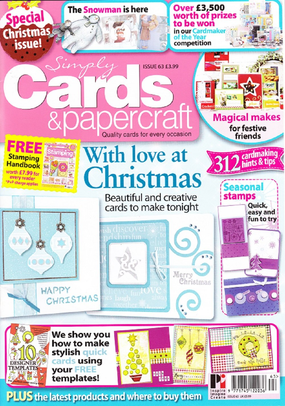 Simply Cards & Papercraft Magazine, Issue 63, Special Christmas