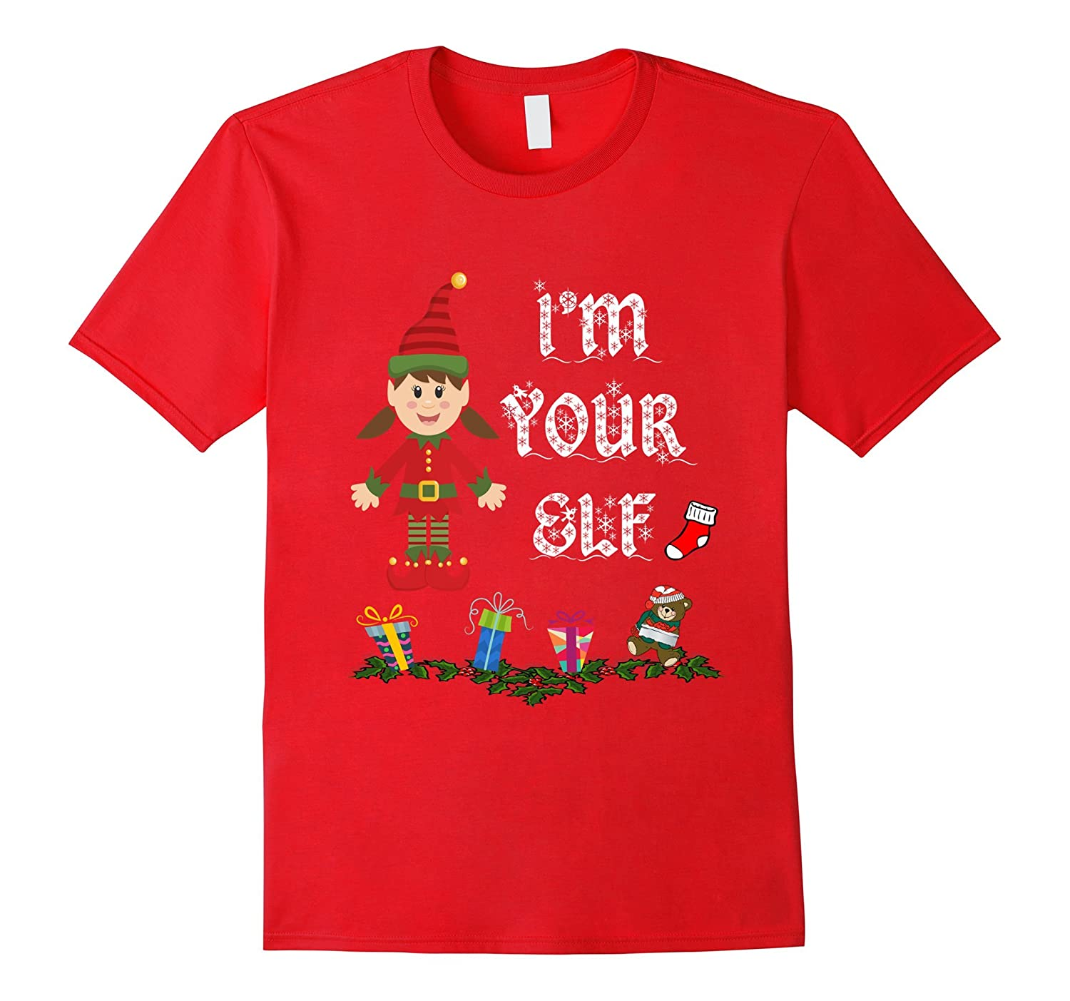 Matching Hers and His Christmas Funny Elf and Santa Shirts-ANZ