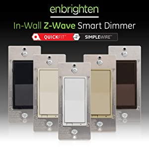 GE Enbrighten Z-Wave Plus Smart Light Dimmer with QuickFit and SimpleWire, Works with Alexa, Google Assistant, SmartThings, Wink, Zwave Hub Required, Repeater/Range Extender, 3-Way Compatible, 46203