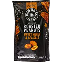 Red Rock Deli Honey and Sea Salt Roasted Peanuts, 12 x 130 Grams