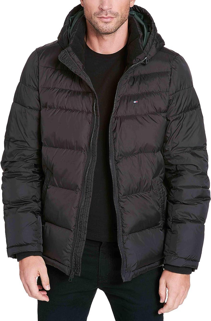 金盒特价 Tommy Hilfiger 立领连帽 男式棉服 2.8折$62.99 海淘转运到手约¥503 多色可选