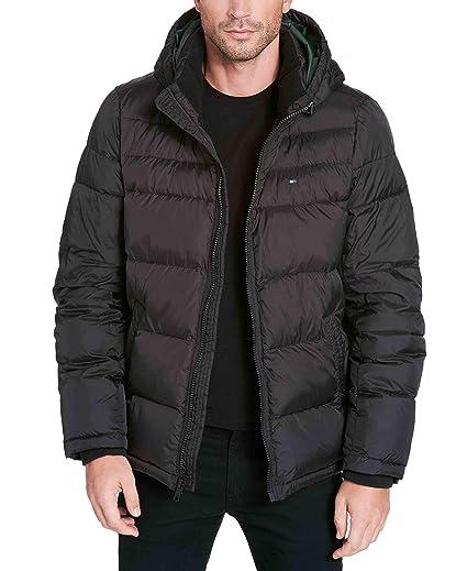 Tommy Hilfiger Men Grey Solid Padded Jacket