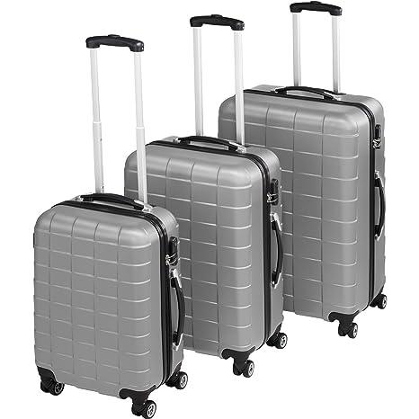 TecTake Set 3 Piezas Maletas ABS Juego de Maletas de Viaje Trolley Maleta Dura | 4