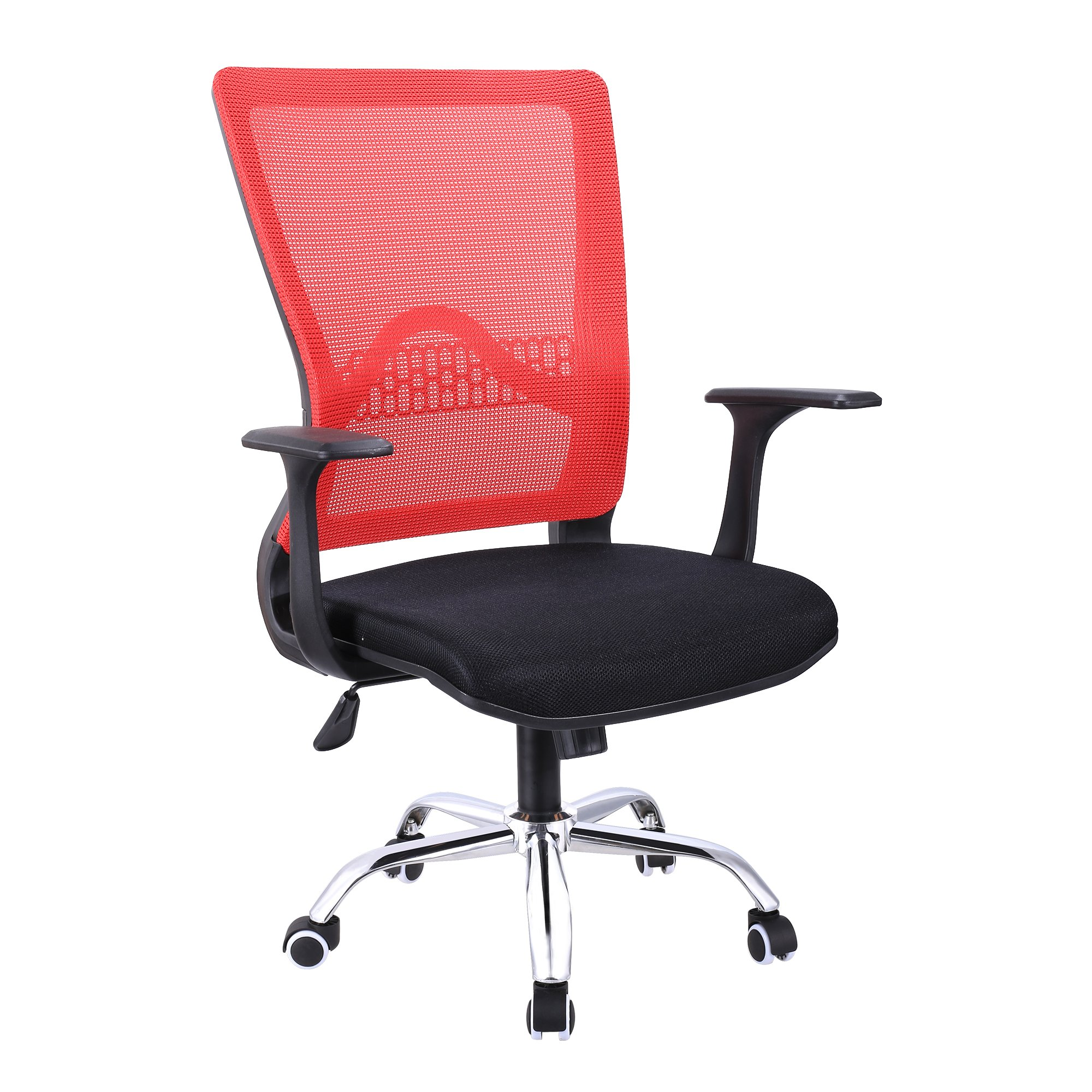 eshion Mesh Computer Office Chair Mesh Seat Adjustable Executive Task Chair (Red)
