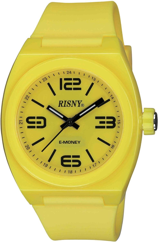 [リスニー]RISNY 腕時計 電子マネーEdy(エディ)搭載 イエロー RS-001M-02 ユニセックス