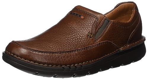 Mens Unnature Easy Loafers, Black, 6.5 UK Clarks