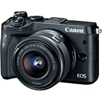 Canon EOS M6 24.2MP Full HD 1080p Mirrorless Digital Camera with 15-45mm Lens - Manufacturer Refurbished