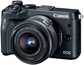 Canon EOS M6 24.2 MP DSLR (Black) Point & Shoot Digital Cameras at amazon