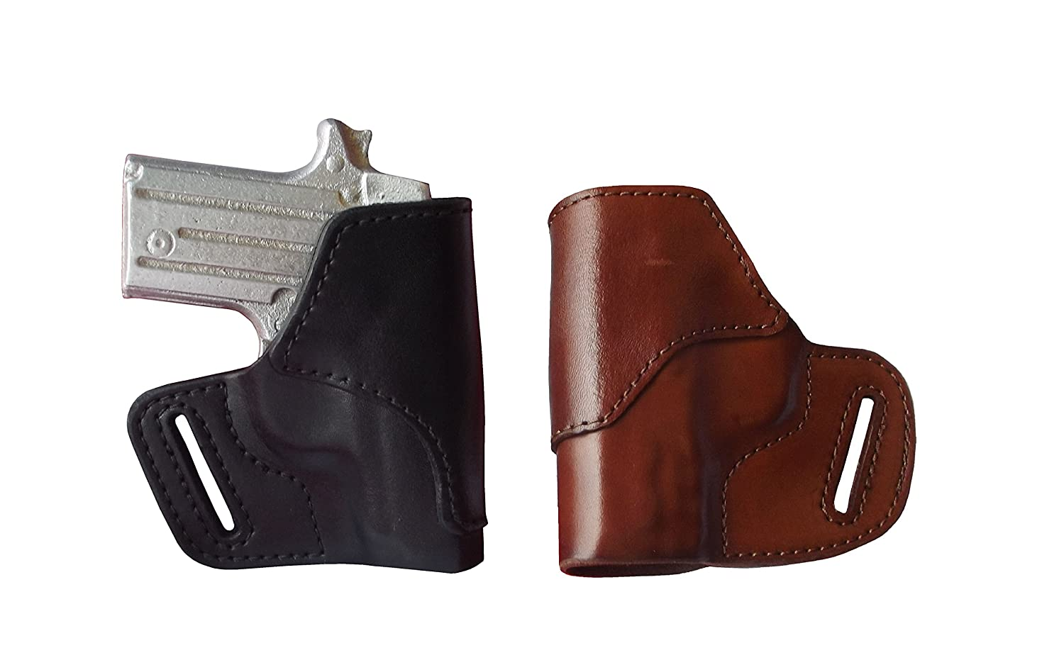 J&J CUSTOM FIT RUGER LCP II (LCP 2) OWB Belt Carry Formed Premium Leather  Holster