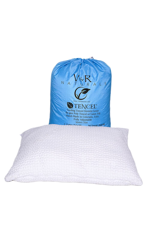 Fill Latex Noodles V/&R Naturals COMIN18JU018753 100/% V/&R Natural Queen Pillow Organic Cotton Cover