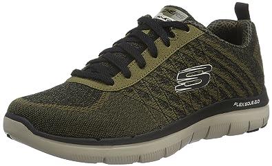 Skechers Flex Advantage 2.0 Golden Po, Baskets Basses Homme