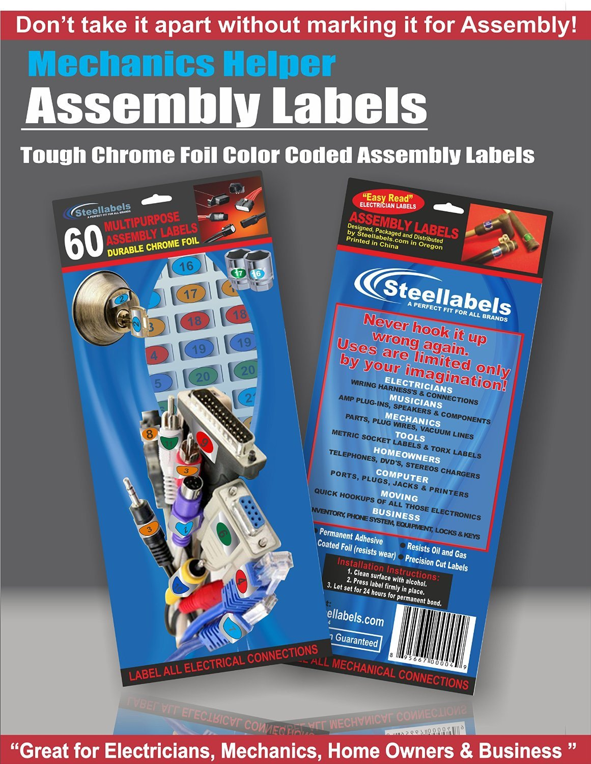 Breaker Box Decals Plus A Assembly Id Labels Tough Vinyl For Breakers And Labelling In Circuit Chrome Foil Tagging Numbering Great Home Owners