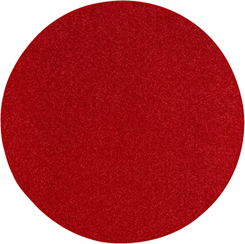 Deal of the week: Ambiant Pet Friendly Solid Color Area Rug Red