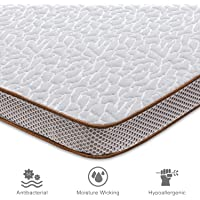 BedStory Memory Foam Mattress Topper, High Density Bed Mattress Topper Pad - CertiPUR-US - Ventilated Design