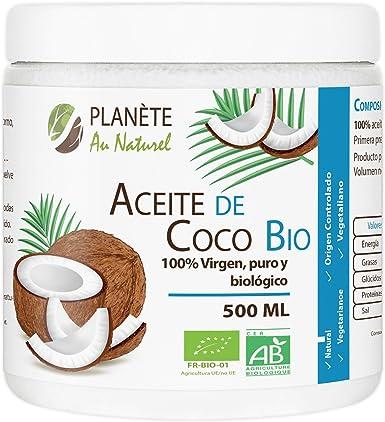 Aceite de Coco Virgen Orgánico - PRENSADO EN FRIO - 500ml: Amazon.es: Alimentación y bebidas