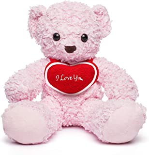 "product image for Bears For Humanity Pink 16"" with I Love You Heart"