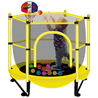 Birthday Gifts for Kids Outdoor /& Indoor Mini Toddler Trampoline with Enclosure Baby Toddler Trampoline Toys 5FT Trampoline for Kids Gifts for Boy and Girl 3-12 Years Old