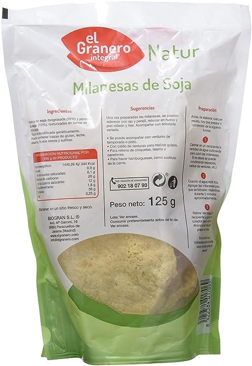 MILANESAS DE SOJA 125 gr: Amazon.es: Salud y cuidado personal