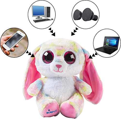 Dimple 8 Plush Speaker – Stuffed Hugging Animal – Music Teddy Bear Speakers – Stereo Sound – Universal Wireless Speakers Compatible with PC, iPhone, Cell Phone, Compatible with Bluetooth 5.0