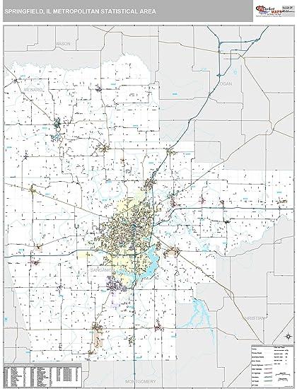 Amazon Com Marketmaps Springfield Il Metro Area Wall Map