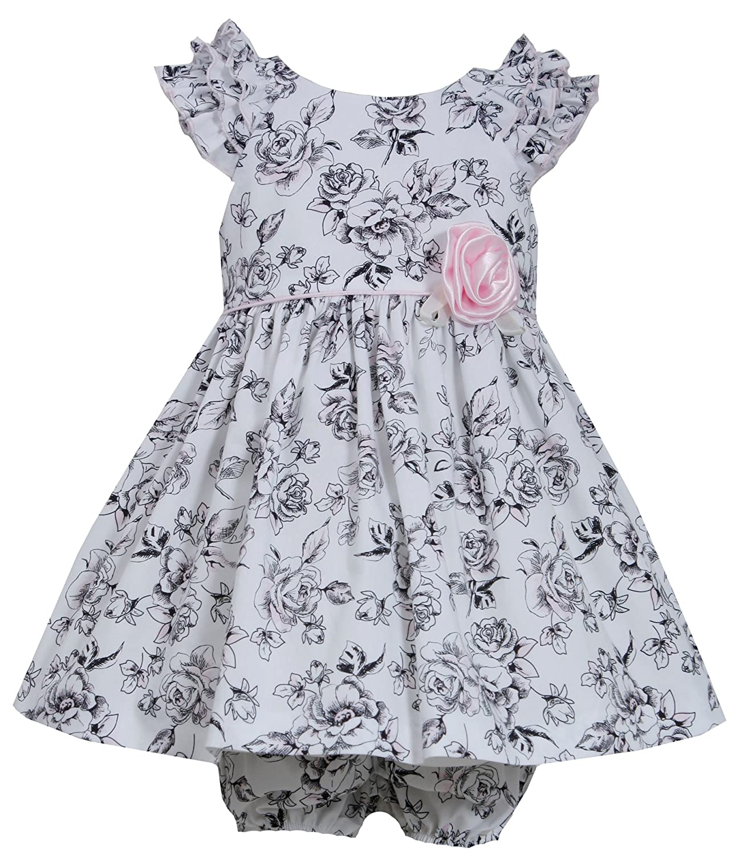 Bonnie Baby DRESS ベビーガールズ B00VU415W2  ブラック/ホワイト 24 Months
