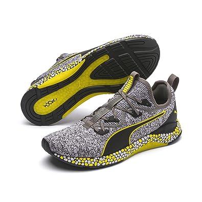 Puma Herren Hybrid Runner Laufschuhe, Schwarz Black White Blazing Yellow, 43 EU