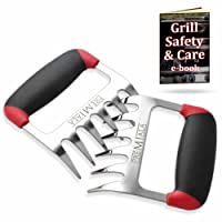 Best 3-in-1 Meat Shredder Claws for Shredding, Handling, & Carving Pulled Pork, Chicken, Beef & Turkey. Pure Stainless Steel with Premium Soft-Touch Handles - Guaranteed Food Safety + Comfort!